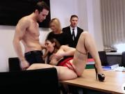 Office lady pussy fingered and slammed
