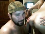 Cum into asshole bareback fucking live on Cruisingcams com