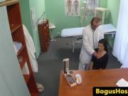 Real euro patient doggystyled during exam