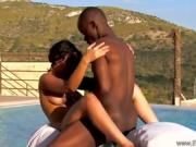 Ebony Couple Is Having A Love Making Session