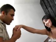 Brazilian slut moans from orgasms