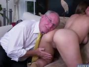 Duke feeding Ivy Rose his old horny cock inside her mouth
