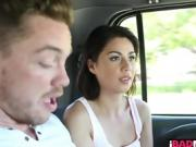 Unfuckingbelievable car handjob with Penelope Reed