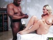 Jessica Ryan massage and fuck a monster cock