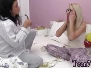 European lesbian strapon and mature feet licking first time