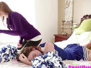 Busty lesbian cougar tribbing cheerleader gal