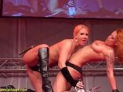 flexi lesbian milf show on stage