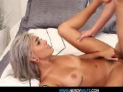 Stepsister gets too hot and gets pounded!