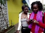 Bathroom lesbian kinky sex with two busty African sluts!