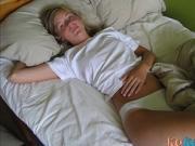 Photos volees diaporama - Francaise jeune blonde - 11
