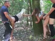 TWO GERMAN TEEN GET FUCKED OUTDOOR BY STRANGER AFTER PARTY