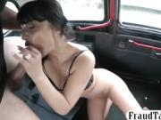 Firm booty babe nailed by pervert driver
