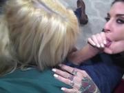 Sexy Joana and Kenzie manhandled Steve