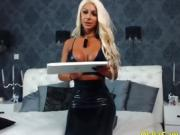 Amazing big boobs blonde milf bimbo cam show OlalaCam