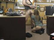 Tight brunette pounded by pawnshop owner
