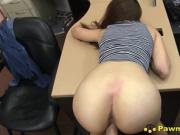 Hot Tall Brunette Babe Fucked In Her Stilettos In Pawn Store