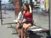 Adventurous couple Eva and Geza fucking in public