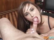 Brunette MILF's titties get fucked