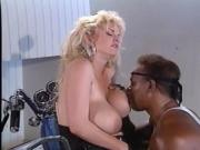 Sexy blonde biker chick is fucked hard by a BBC