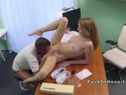 Doctor bangs busty babe after examination