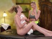 Hot babes Brett and Kenzie goes scissor sex and fingering