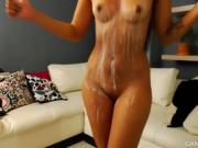 Pretty Hot Shaved Pussy Chick Home Alone - Letting You Watch