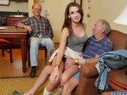 Lisa double blowjob Frankie and Dukes old cocks