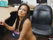 Brunette hottie Alexis Deen fucked by big dick for big cash