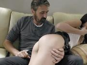 Father spanks and disciplines his 18 yo stepdaughter!