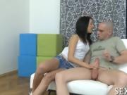Cock rams tight virgin pussy
