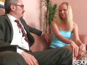 Beauty is offering her cunt for teacher's lusty enjoyment