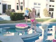 Hottie teens gets fucked by their Drone Hunter Neighbor