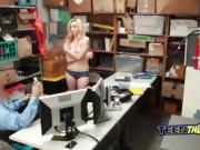 Security guard fucks thief Zoe Parker