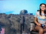 Ebony girlfriend cheating in car shop abuse pic