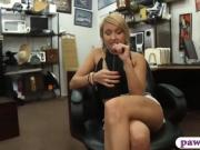 Blonde babe pawns her vagina for her puppys vets bill