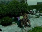 Ebony couple engage in crazy sexual acrobatics
