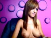 Brunette with big tits on webcam - hothornycamgirlscom