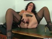 brunette milf strips and faps