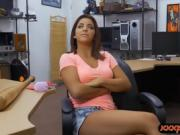 Pierced nipples babe railed by pawn man at the pawnshop