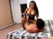 Booty and busty Latina babe slammed hard