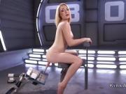 Hirsute blonde bangs speedy machine