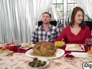 Evelin gets fucked during thanks giving