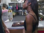 Slender ebony Lexxi Deep fucks in the pawnshop for cash