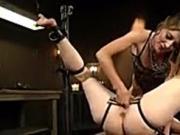 Submissive lesbian slut anal fucked
