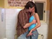 John e depth anal interracial Debbie plowed in public toilet