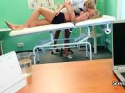 Nurse fuck blonde babe for doctor