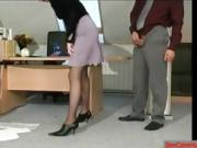 stepmom fucked by his boss to the office