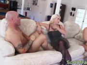 Mother-in-law seduces guy into pussy fucking