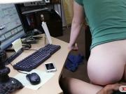 Blonde babe screwed by horny pawn dude