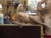 Long haired blonde fucks dudes big stud